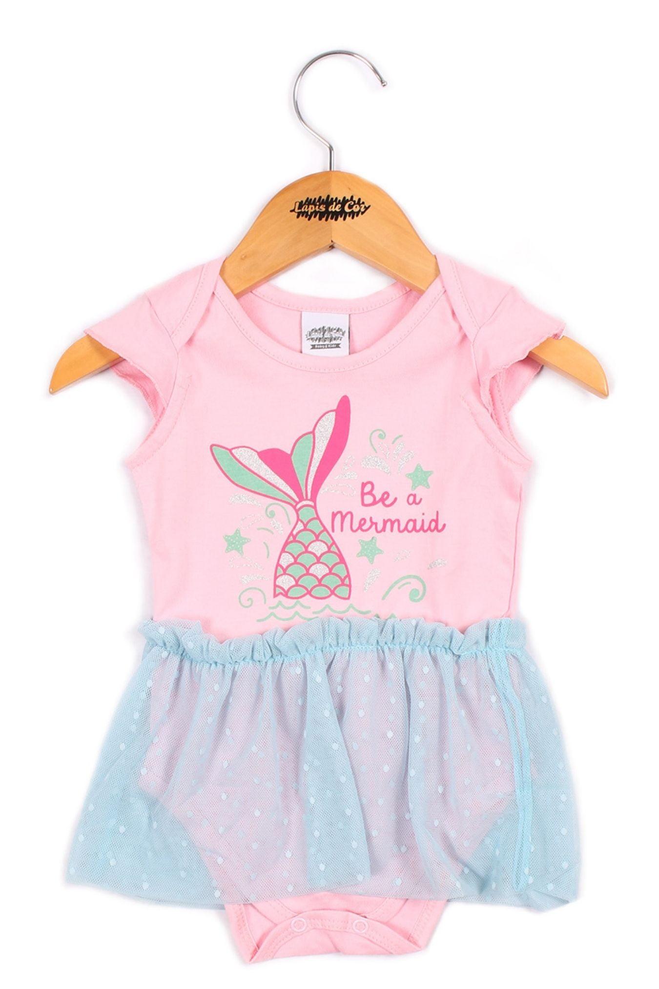 Body/vestido bebê estampado