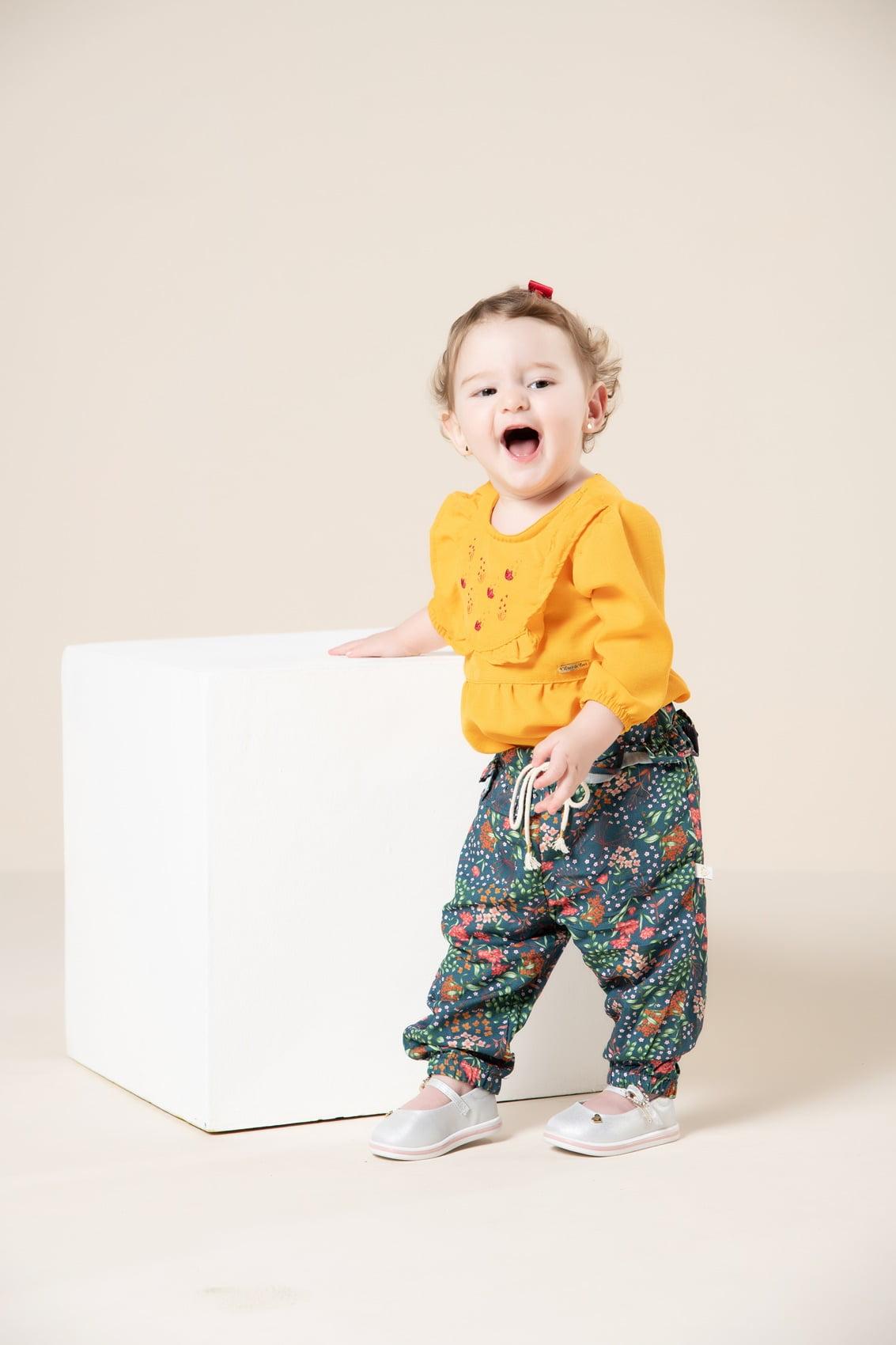 Calça bebê estampa digital exclusiva