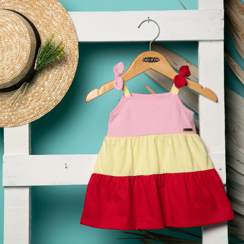 Vestido bebê colorido