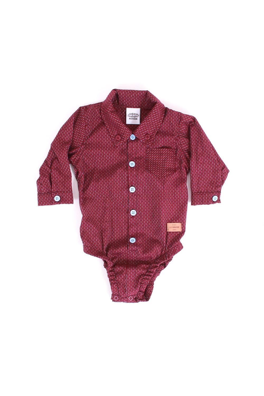 Body/Camisa bebê manga longa listrado
