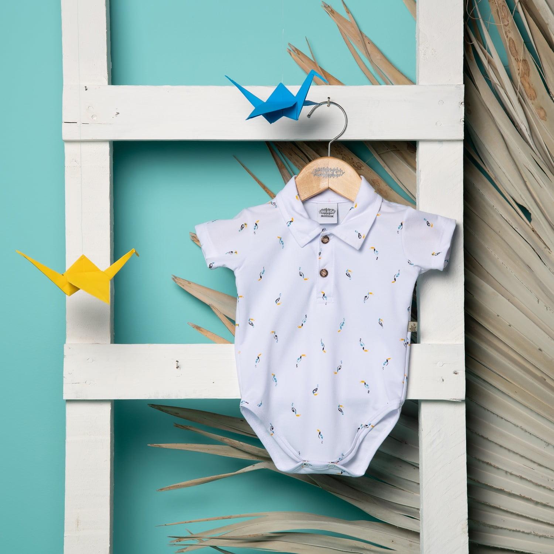 Body/Polo bebê estampado