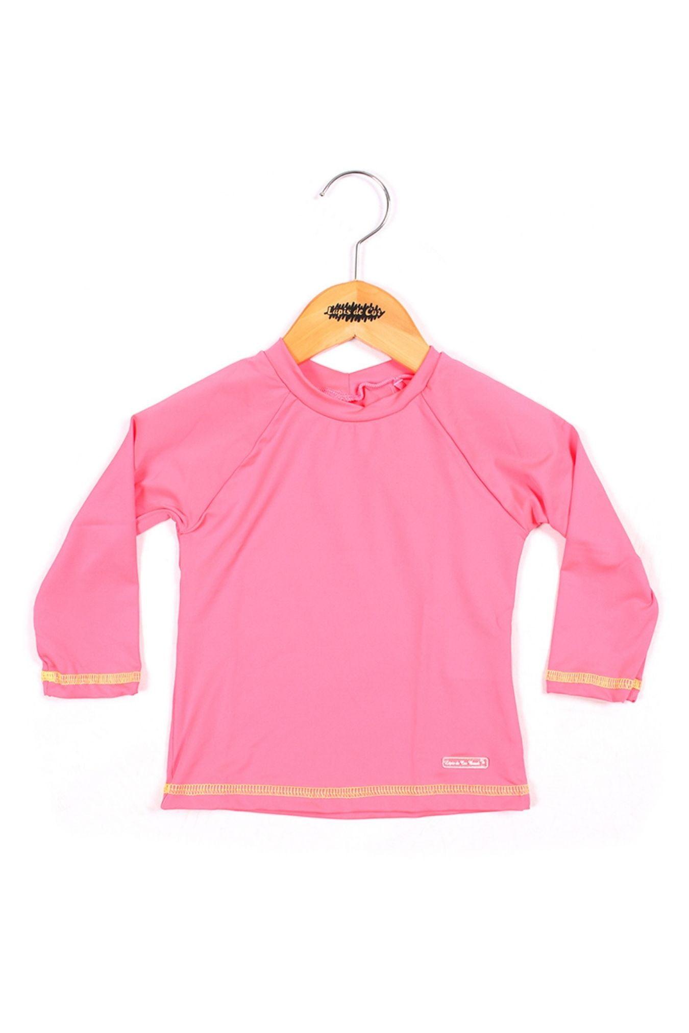 Blusa infantil manga longa com proteção UV 50+
