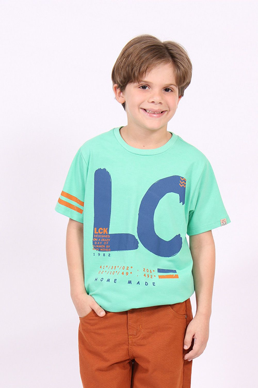 T-Shirt de Malha Estonada com Silk