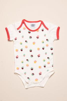 Body bebê com estampa de nozes exclusiva