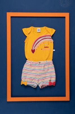 Body bebê com estampa e aplicação exclusiva