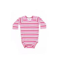 Body bebê manga longa listrado