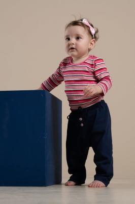 Calça bebê de malha color
