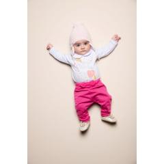 Calça bebê menina moletinho