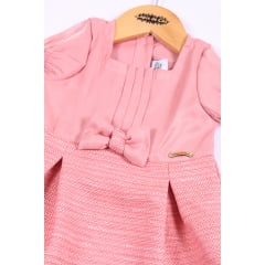 Vestido bebê com laço na frente