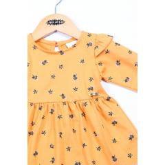 Vestido bebê manga longa estampado
