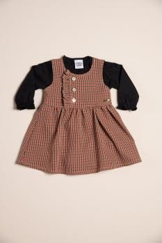 Vestido bebê xadrez alfaiataria