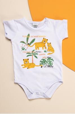 Body bebê com estampa exclusiva de tigre
