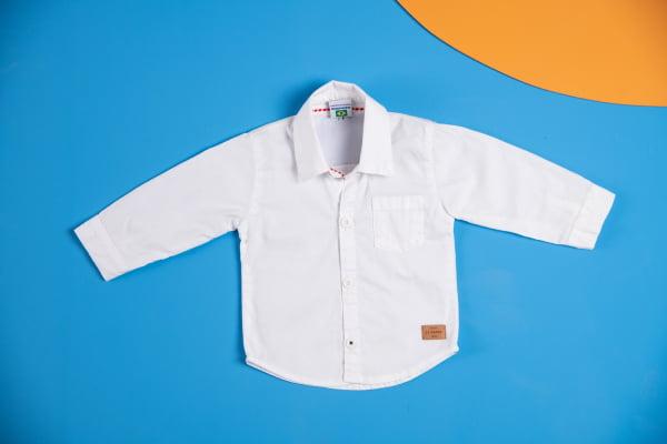 Camisa bebê manga longa social