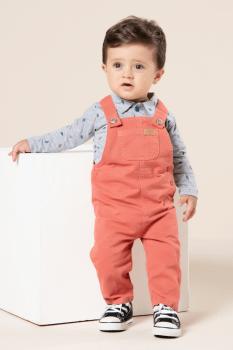 Jardineira bebê longa color
