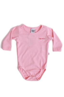 Body bebê manga longa casual com bordado