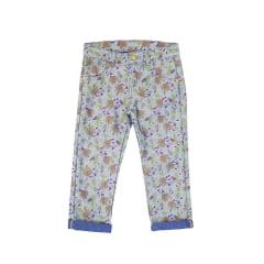 Calça Jeans Estampada