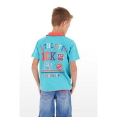 Camisa Polo Infantil de Malha com Estampa