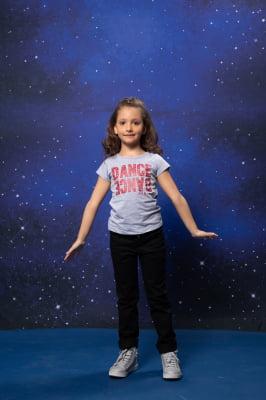 Blusa infantil com estampa metalizada DANCE