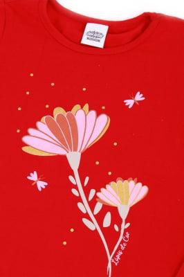 Blusa infantil com estampa de flor