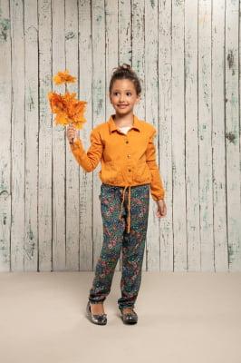 Calça infantil clochard com estampa digital exclusiva