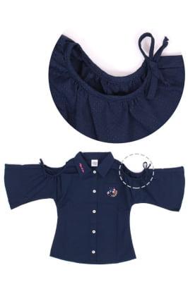 Camisa infantil com ombro vazado