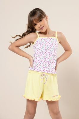 Pijama infantil estampado de flores