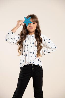 Camisa infantil estampada de estrela