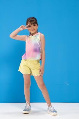 Short infantil com bordado inglês