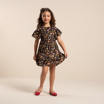 Vestido infantil com estampa digital exclusiva