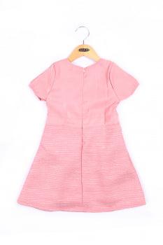 Vestido infantil com laço