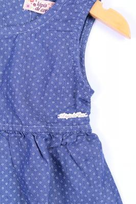 Vestido infantil jeans costas vazada