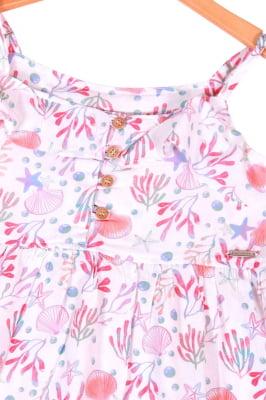 Vestido infantil longo estampa digital