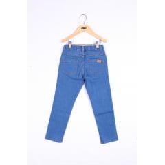 Calça infantil jeans com cadarço
