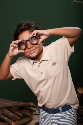 Camisa polo infantil ecológica