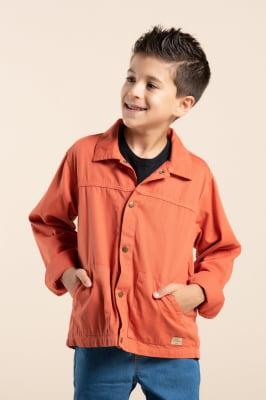 Jaqueta infantil color com bolso