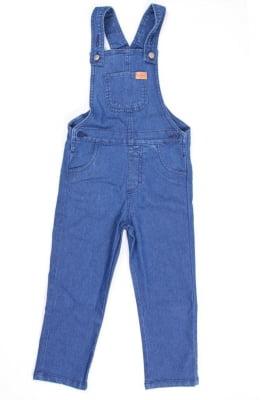 Jardineira infantil jeans longa