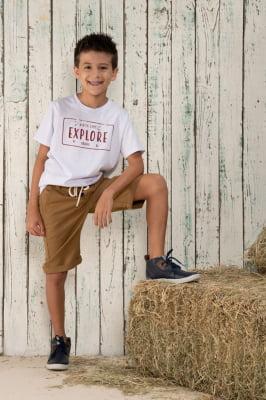 T-Shirt infantil com estampa explore