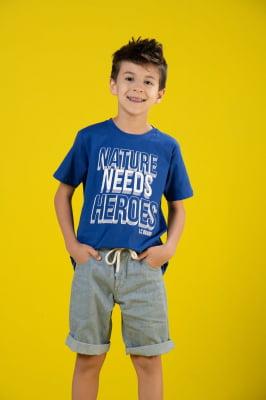 T-shirt infantil de malha com estampa