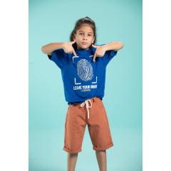 T-shirt infantil com estampa em alto relevo