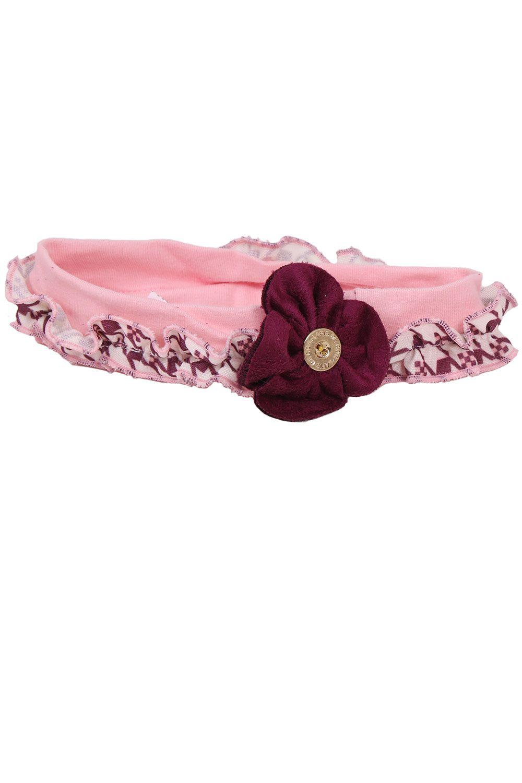 Tiara Frufru Com Flor de Suede e Botão Personalizado